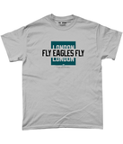Philadelphia Pro Colour Bar Fly Eagles Fly Pick 6 Apparel T-Shirt - 2 Colours - Pick 6 Apparel
