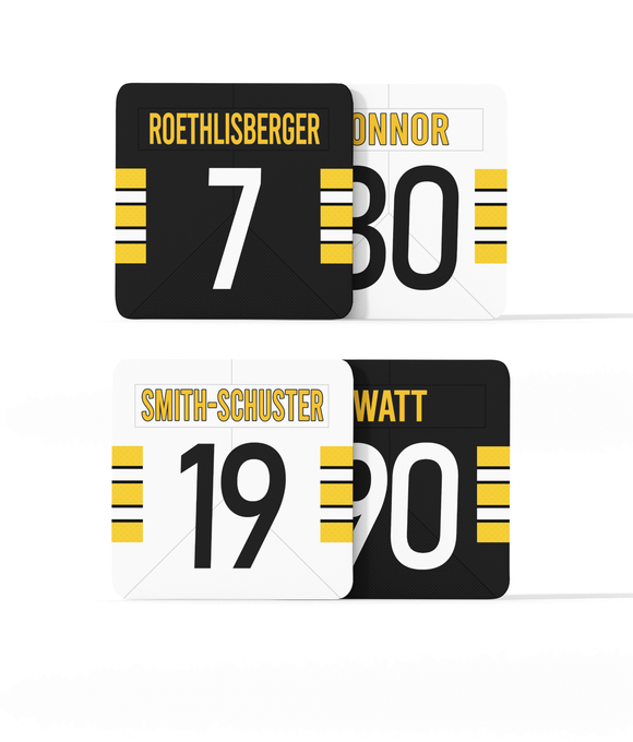 Pittsburgh Custom Jersey - Drinks Coaster Bundle BUY 2 GET 2 FREE - Pick 6 Apparel