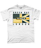 Green Bay Pro Flag UK Go Pack Go Apparel T-Shirt - 2 Colours - Pick 6 Apparel