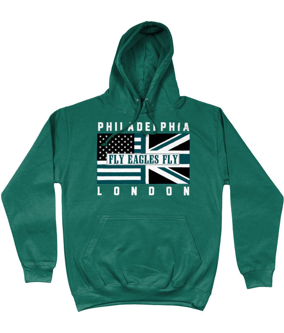 Philadelphia Pro Flag UK Fly Eagles Fly Pick 6 Apparel Hoodie - 2 Colours - Pick 6 Apparel