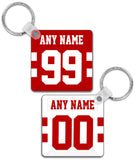 San Francisco Player Jersey Custom Personalised Link Up Keyring - Pick 6 Apparel