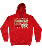 San Francisco Pro Flag UK Love my 9ers Pick 6 Apparel Hoodie - 2 Colours - Pick 6 Apparel