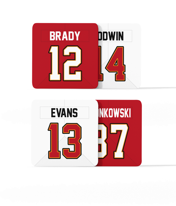 Tampa Bay Custom Jersey - Drinks Coaster Bundle BUY 2 GET 2 FREE - Pick 6 Apparel
