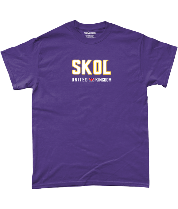 Minnesota SKOL UK Pick 6 Apparel T-Shirt - 2 Colours - Pick 6 Apparel