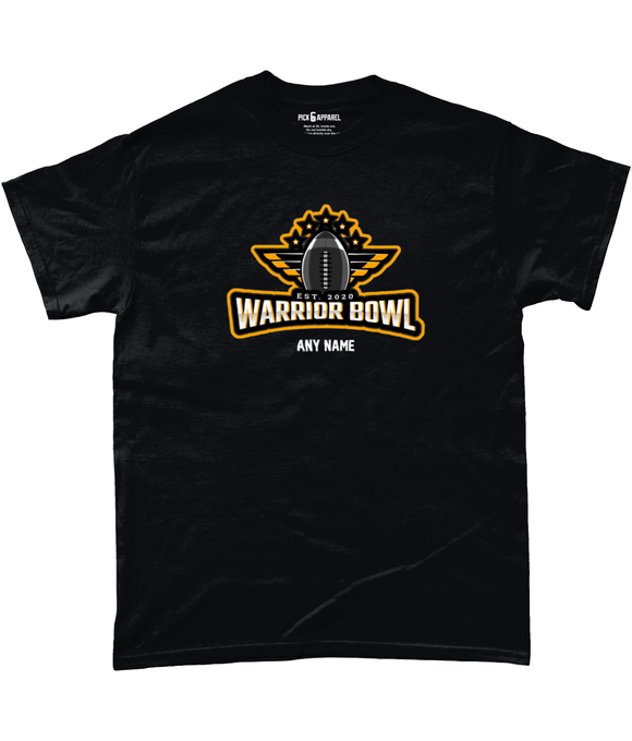 Warrior Bowl - Customised T-Shirt (Black) - Pick 6 Apparel