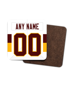 Washington Custom Road Jersey - Single Drinks Coaster - Pick 6 Apparel