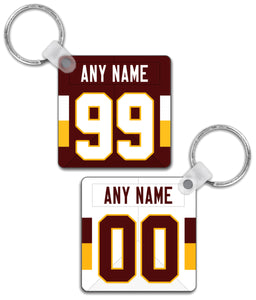 Washington Player Jersey Custom Personalised Link Up Keyring - Pick 6 Apparel