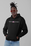 Pick 6 Apparel Worded Chest Logo Cotton Hoodie - Black - Pick 6 Apparel