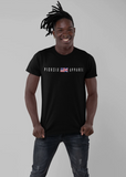Pick 6 Apparel Worded Chest Logo Cotton T-Shirt - Black - Pick 6 Apparel