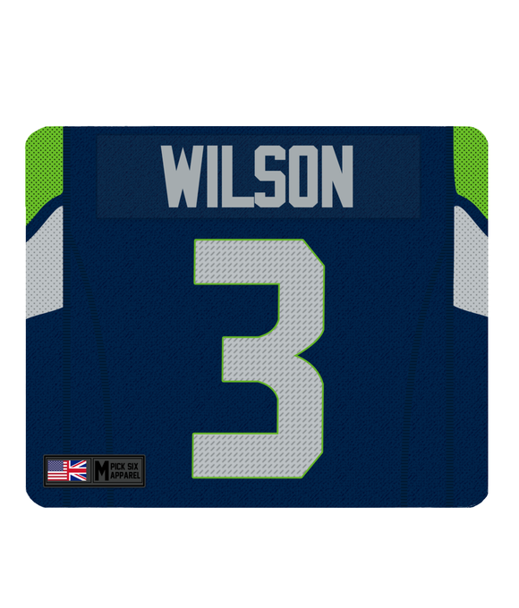 Seattle Custom Player Personalised Jersey Mouse Mat - Pick 6 Apparel