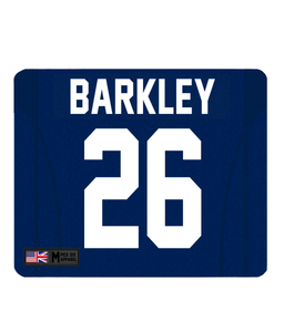 NY Giants Custom Player Personalised Jersey Mouse Mat - Pick 6 Apparel
