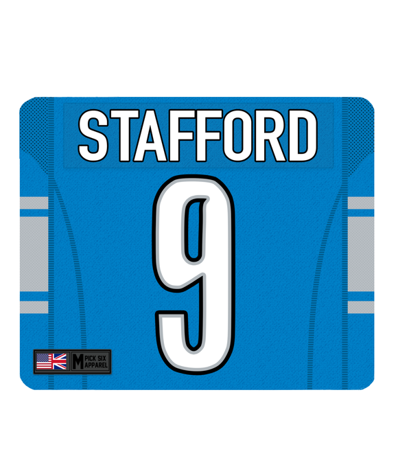 Detroit Custom Player Personalised Jersey Mouse Mat - Pick 6 Apparel