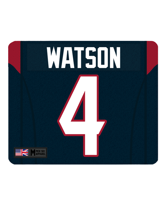 Houston Custom Player Personalised Jersey Mouse Mat - Pick 6 Apparel