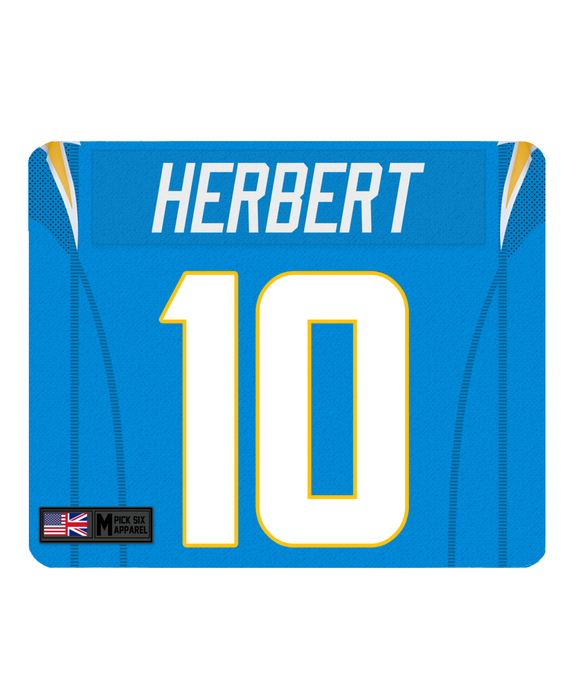 LA Chargers Custom Player Personalised Jersey Mouse Mat - Pick 6 Apparel