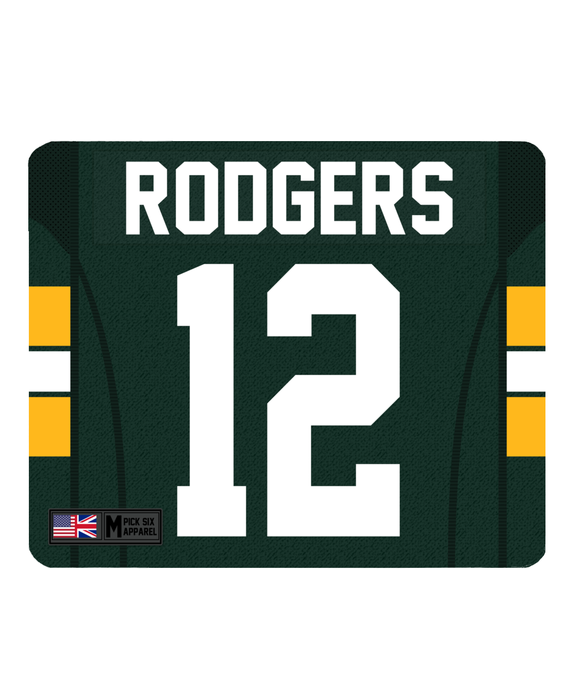 Green Bay Custom Player Personalised Jersey Mouse Mat - Pick 6 Apparel