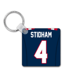 New England Player Jersey Custom Personalised Link Up Keyring - Pick 6 Apparel