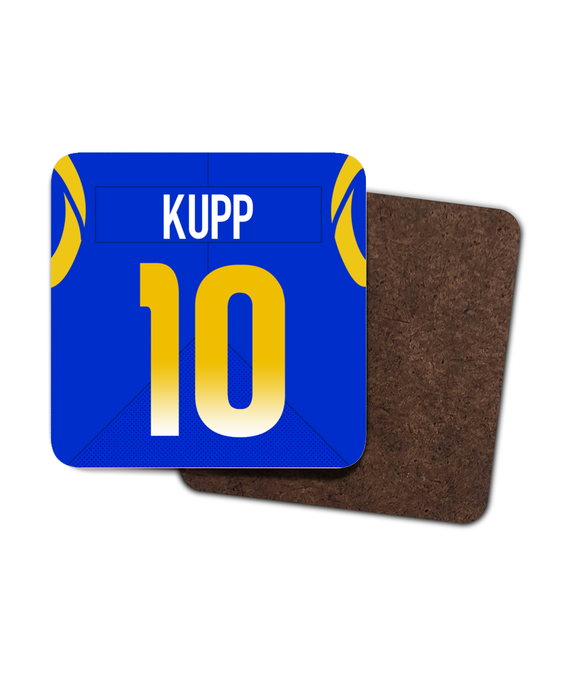 Los Angeles LAR Home Player Jersey - Single Drinks Coaster - Pick 6 Apparel