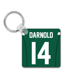 New York NYJ Player Jersey Custom Personalised Link Up Keyring - Pick 6 Apparel