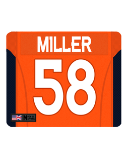 Denver Custom Player Personalised Jersey Mouse Mat - Pick 6 Apparel