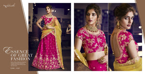 Nakkashi NAK4157 Bridal Rani Handloom Silk Liril Net Lehenga Choli - Fashion Nation