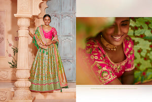Wedding Wear K102625 Designer Multicoloured Pink Silk Lehenga Choli by Fashion Nation