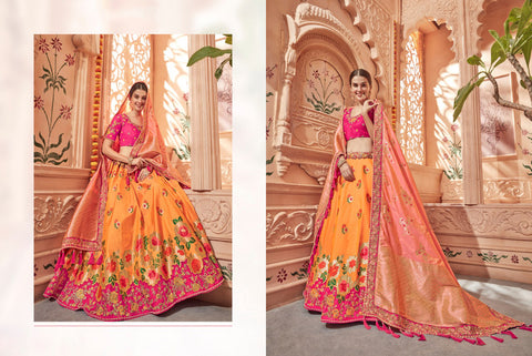 Traditional K102635 Designer Multicoloured Silk Lehenga Choli by Fashion Nation