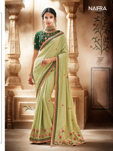 Attractive Nakkashi NAK1056 Designer Pista Green Handloom Silk Saree - Fashion Nation