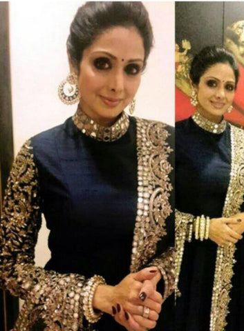 K1058 Bollywood Inspired Designer Party Wear Sridevi Anarkali Gown - Fashion Nation