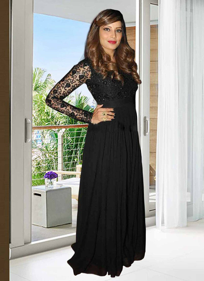 7b088011f2 Partywear 1070 Bollywood Inspired Bipasha Basu Georgette Net Anarkali Gown  - Fashion Nation.in -