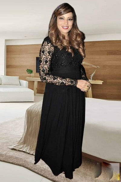 Partywear 1070 Bollywood Inspired Bipasha Basu Georgette Net Anarkali Gown - Fashion Nation.in  - 3