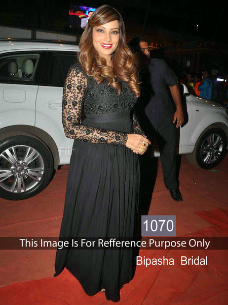 Partywear 1070 Bollywood Inspired Bipasha Basu Georgette Net Anarkali Gown - Fashion Nation.in  - 4