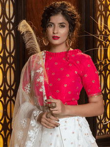 Celebrations Wear Tiered Lehenga Top at Cheapest Prices by Fashion Nation