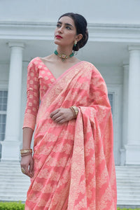 Marriage Functions Wear Banarasi Lucknowi Saree for Online Sales by Fashion Nation