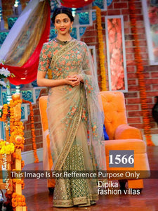1566 Deepika Padukone Net Bollywood Inspired Saree - Fashion Nation