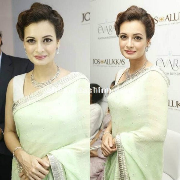 1567 Dia Mirza Georgette Net Bollywood Inspired Saree - Fashion Nation