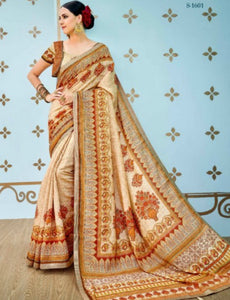 Designer SS1601 Artistic Multicoloured Benarasi Silk Saree by Fashion Nation