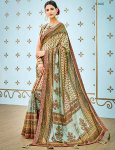 Gorgeous SS1605 Attractive Multicoloured Benarasi Silk Saree by Fashion Nation
