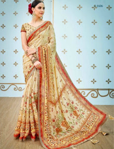 Enthralling SS1606 Enchanting Multicoloured Benarasi Silk Saree by Fashion Nation