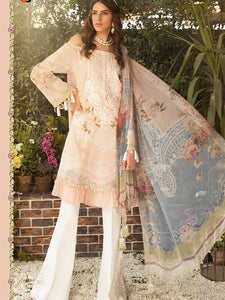 Indus Fashion A2Z204 Peach Multicoloured Lawn Cotton Pakistani Suit with Palazzo - Fashion Nation