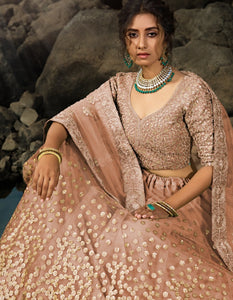 Handcrafted Designer Net Silk Lehenga Choli for Online Sales by Fashion Nation
