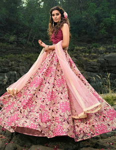 Beautiful AD3609 Designer Multicoloured Net Lehenga Choli by Fashion Nation