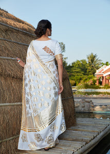 Afternoon Party Wear Silk Designer Saree for Online Sales by Fashion Nation