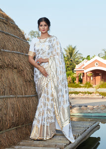 Afternoon Party Wear Silk Designer Saree by Fashion Nation