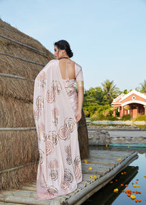 Classy Party Wear Silk Designer Saree for Online Sales by Fashion Nation