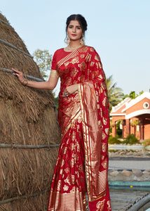 Shaadi Party Wear Silk Designer Saree for Online Sales by Fashion Nation
