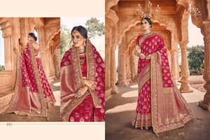 Festive Fashion Weaving Shaadi Wear Saree with Blouse for Online Sales by Fashion Nation