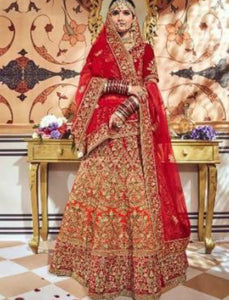 Designer Bridal MN4706 Shaded Maroon Multicoloured Velvet Lehenga Choli by Fashion Nation