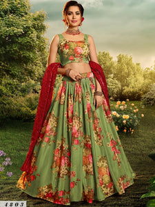 Celebrations Special Floral Party Lehenga at Cheapest Prices by Fashion Nation