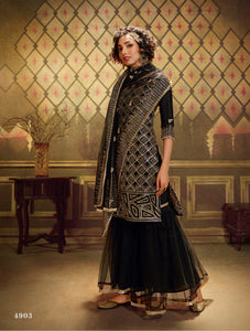 Evening Party Wear Net Designer Gharara Suit - Fashion Nation