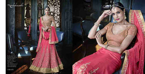 Dainty Nakkashi NAK5054 Bridal Pink Georgette Silk Lehenga Choli - Fashion Nation
